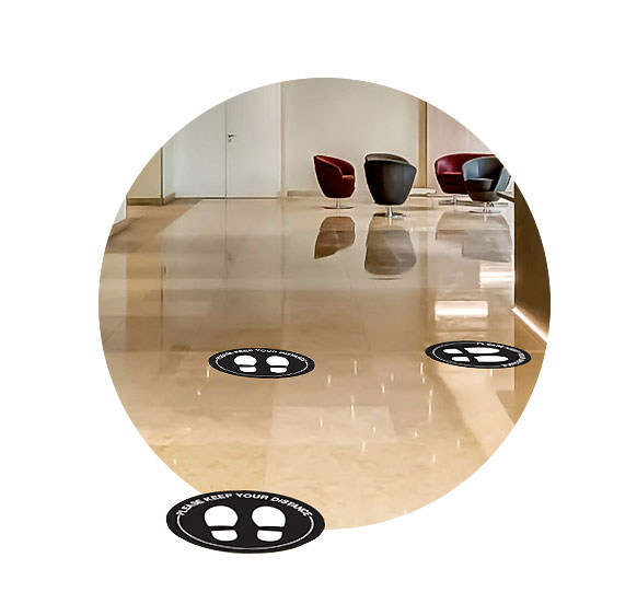 COVID-19 Floor Graphics - Circles
